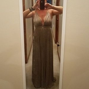 fff249b6ff Luxxel Dresses - Saved by the Dress Bronze Maxi